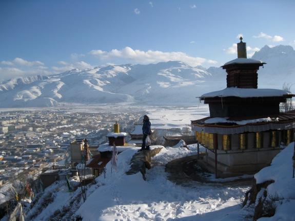 Winter in Ganzi, from the Ganzi Gonpa kora
